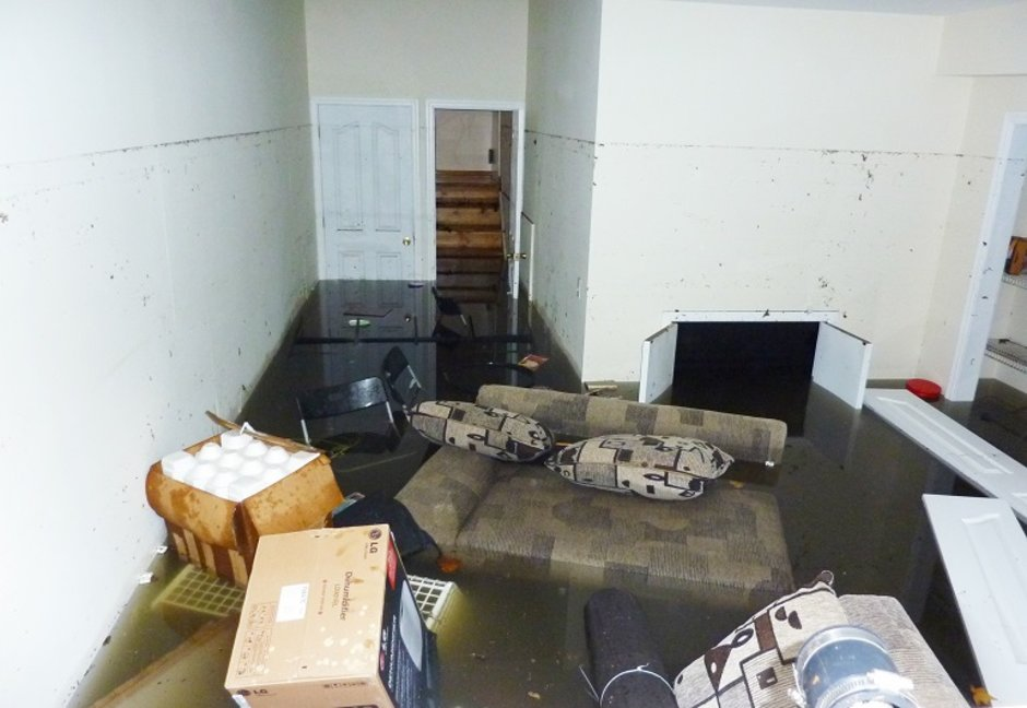 What happens during water and flood damage